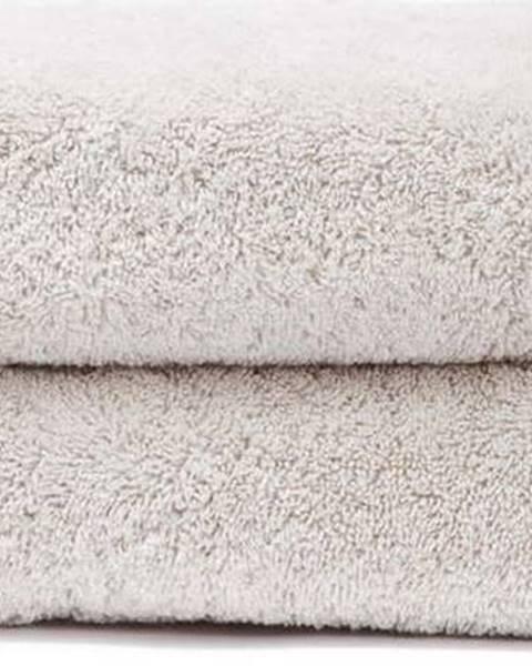 Bonami Sada 2 krémových ručníků ze 100% bavlny Bonami, 50x90 cm