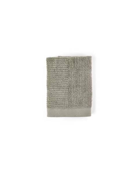 Zone Šedozelený ručník ze 100% bavlny Zone Classic Eucalyptus, 50x70cm