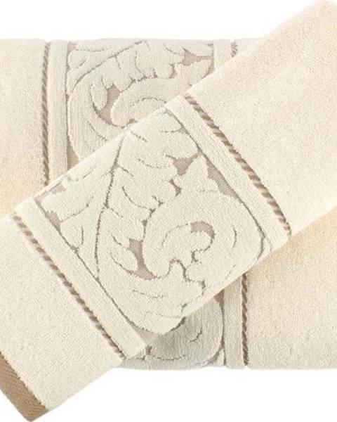 Hobby Set krémového bavlněného ručníku a osušky Sultan Cream