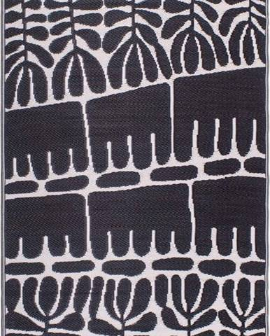 Černý oboustranný venkovní koberec z recyklovaného plastu Fab Hab Serowe Black, 120 x 180 cm