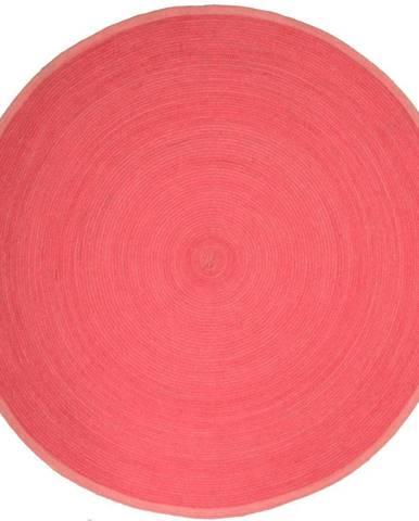 Dětský růžový koberec Nattiot Tapis, Ø140cm