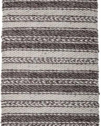 Hnědo-šedý koberec Bloomingville Poly, 70 x 140 cm