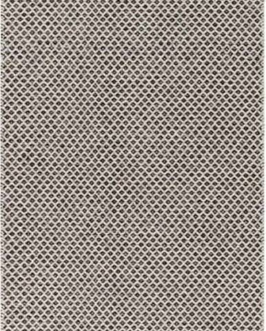 Krémovo-černý běhoun vhodný do exteriéru Narma Diby, 70x250cm
