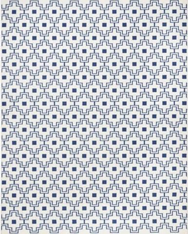 Modrobílý koberec Zala LivingCubic, 70x140cm