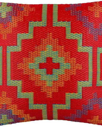 Oranžovo-fialový venkovní polštář Fab Hab Lhasa Orange & Violet, 51 x 51 cm
