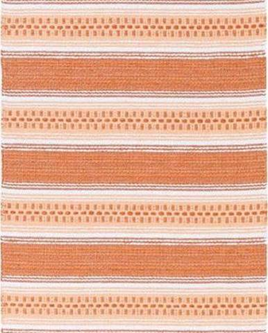 Oranžový běhoun vhodný do exteriéru Narma Runo, 70x150cm