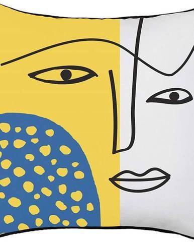 Povlak na polštář Mike&Co.NEWYORK Abstract Face, 43 x 43 cm