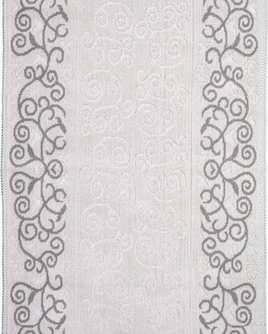 Šedobéžový bavlněný koberec Vitaus Orkide, 100x150cm