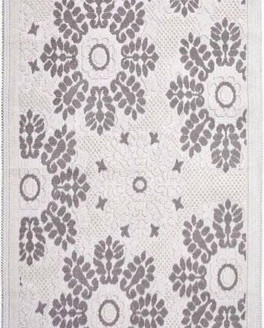 Šedobéžový bavlněný koberec Vitaus Papatya, 80x200cm