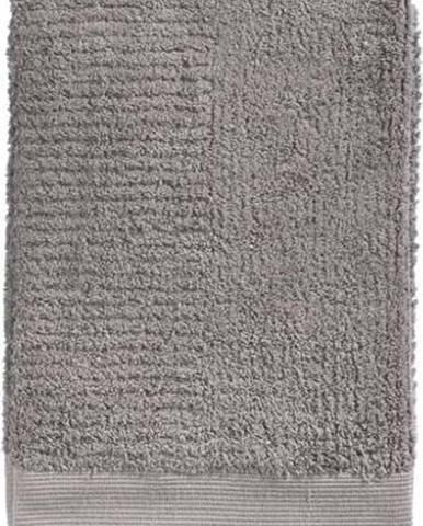 Šedohnědá bavlněná osuška Zone Classic, 70 x 140 cm
