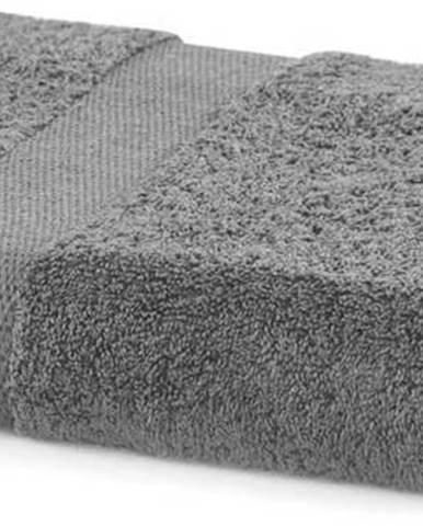 Šedý ručník DecoKing Marina, 70 x 140 cm