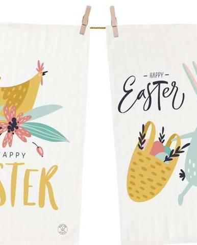Set 2 kusů utěrek Butter Kings z bavlny Easter Harvest, 70 x 50 cm