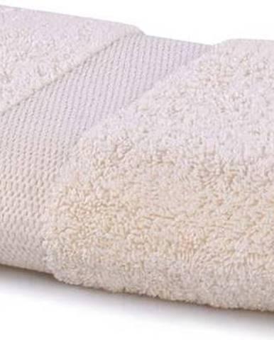 Světle béžový ručník DecoKing Marina, 50 x 100 cm