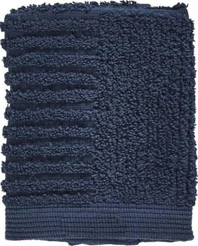 Tmavě modrý ručník ze 100% bavlny na obličej Zone Classic Dark Blue, 30x30cm