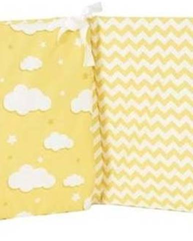 Žlutý ochranný bavlněný mantinel do dětské postýlky Mike&Co.NEWYORK Carino, 40 x 210 cm