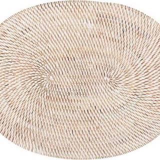 Bílé ratanové prostírání Tiseco Home Studio, 30x40cm