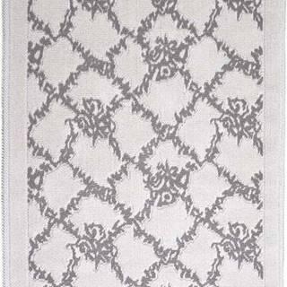 Šedobéžový bavlněný koberec Vitaus Sarmasik, 100x150cm