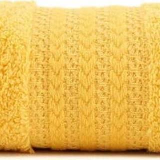 Žlutý ručník z čisté bavlny Sunny, 50 x 90 cm