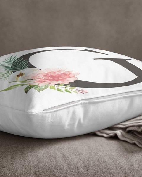 Minimalist Cushion Covers Povlak na polštář Minimalist Cushion Covers Floral Alphabet G, 45 x 45 cm