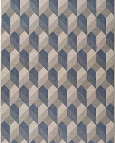 Béžovomodrý venkovní koberec Universal Silvana Miratta, 80x150cm