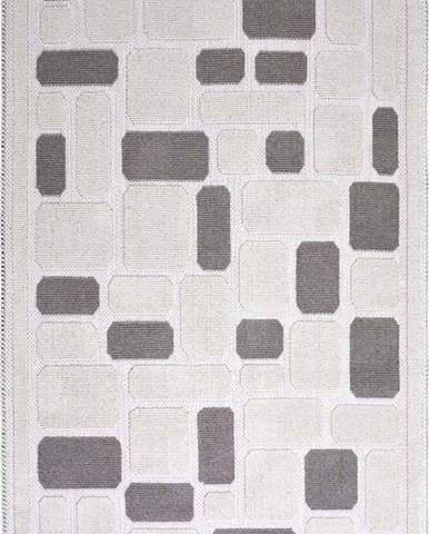 Béžový bavlněný koberec Vitaus Mozaik, 60x90cm
