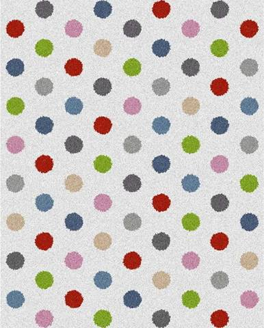 Bílý koberec Universal Norge Dots, 80x150cm