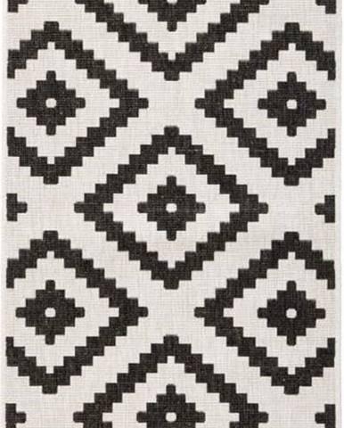 Černo-krémová venkovní koberec Bougari Malta, 80x350 cm