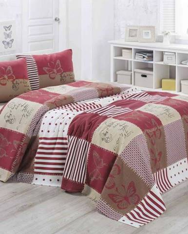 Lehký prošívaný bavlněný přehoz přes postel Victoria Butterfly, 160x230cm