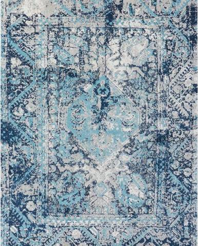 Modrý koberec Nouristan Chelozai, 80 x 150 cm