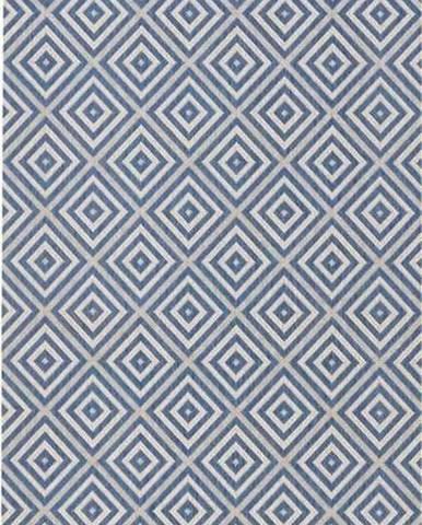 Modrý venkovní koberec Bougari Karo, 80x150cm