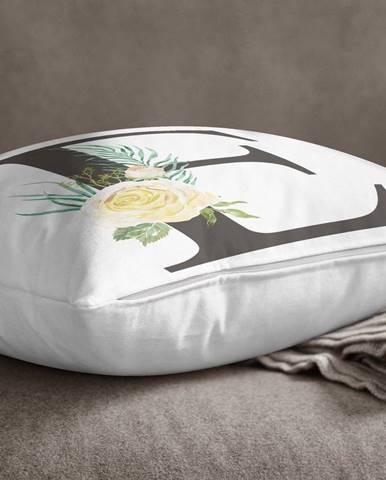 Povlak na polštář Minimalist Cushion Covers Floral Alphabet E, 45 x 45 cm