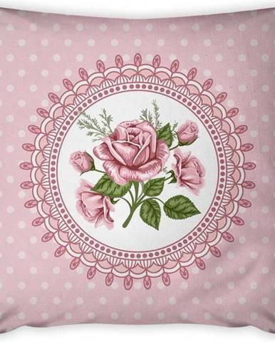 Povlak na polštář Vitaus Rustic Vintage Rosa Dos, 43 x 43 cm