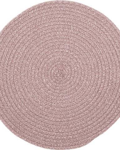 Růžové prostírání s příměsí bavlny Tiseco Home Studio,ø38cm