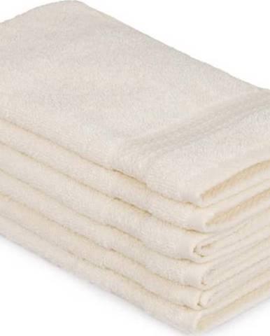 Sada 6 světle krémových bavlněných ručníků Madame Coco Lento Crema, 30 x 50 cm