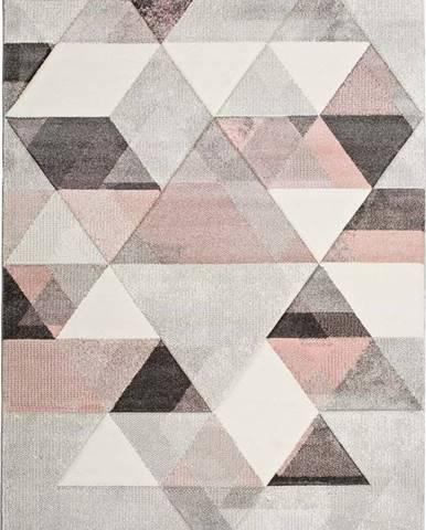 Šedo-růžový koberec Universal Pinky Dugaro, 160x230cm