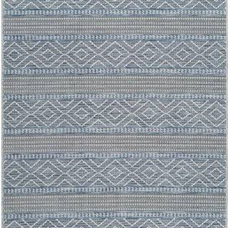 Modrý venkovní koberec Universal Cork Lines, 130 x 190 cm