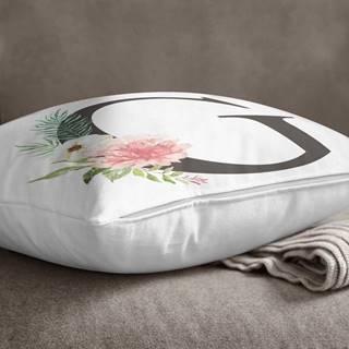 Povlak na polštář Minimalist Cushion Covers Floral Alphabet G, 45 x 45 cm