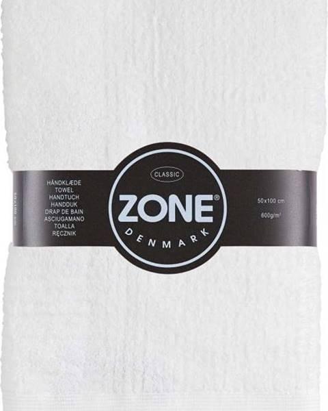 Zone Bílý bavlněný ručník Zone Classic,50x100cm