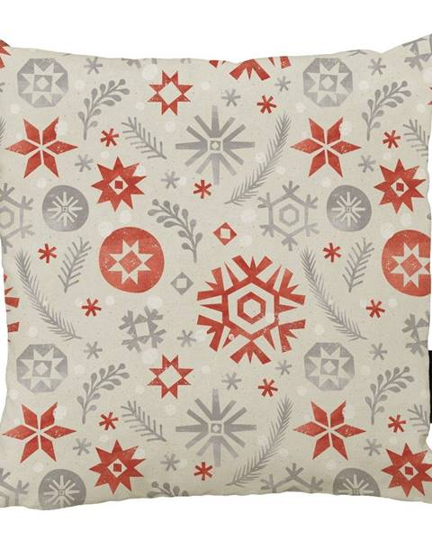 Butter Kings Vánoční polštář s bavlněným povlakem Butter Kings Snowflake Frost,45x45cm