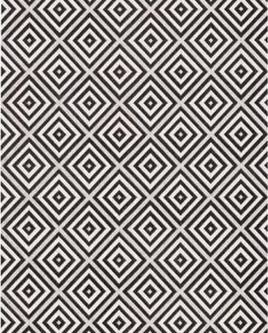 Černo-bílý venkovní koberec Bougari Karo, 80x150cm