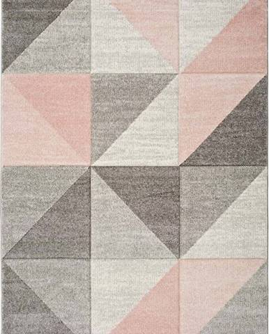 Růžovo-šedý koberec Universal Retudo Naia, 80x150cm