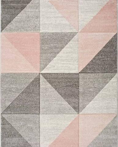 Růžovošedý koberec Universal Retudo Naia, 160x230cm