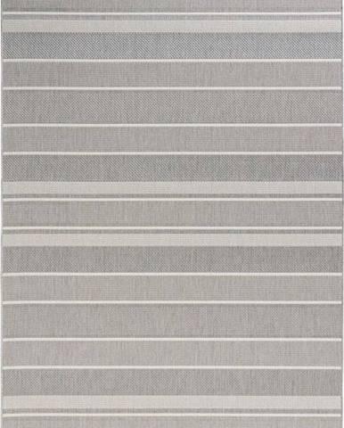 Šedý venkovní koberec Bougari Strap, 80x150cm