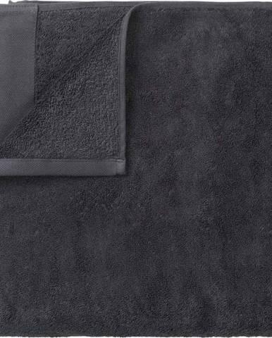 Tmavě šedá bavlněná osuška Blomus, 100x200cm