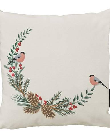 Vánoční polštář s bavlněným povlakem Butter Kings Winter Forest,45x45cm