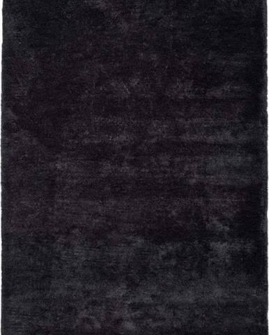 Antracitově černý koberec Universal Shanghai Liso, 60x110cm