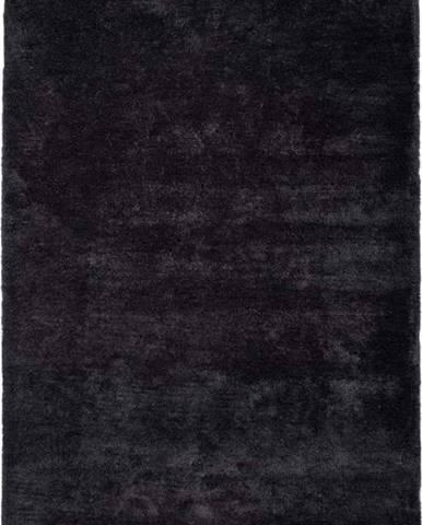 Antracitově černý koberec Universal Shanghai Liso, 80 x 150 cm