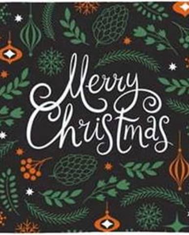 Bavlněný běhoun s vánočním motivem Butter Kings Very Merry Christmas,140x40cm