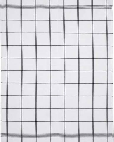 Bílo-šedá kuchyňská utěrka z bavlny Södahl Geometric, 50x70cm