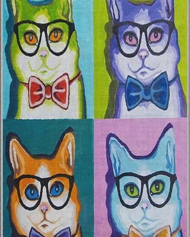 Dětský protiskluzový koberec Homefesto Animals,80x200cm